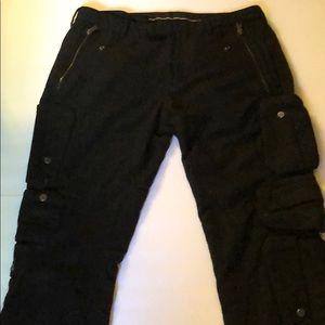 Ralph Lauren straight merino wool cargo pants